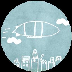 Sluitsticker-Zeppelin
