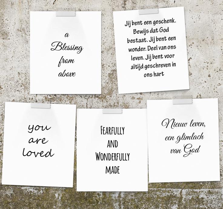 originele christelijke teksten voor je geboortekaartje