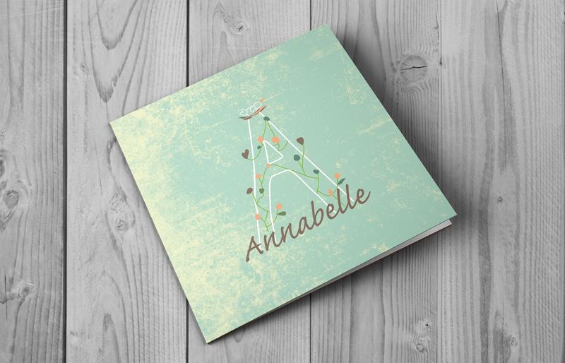 Annabelle- geboortekaartje letter