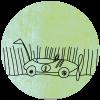 Sluitsticker-Raceauto