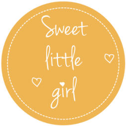 Sluitsticker-sweet little girl