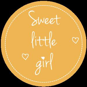 Sluitsticker-sweet little girl