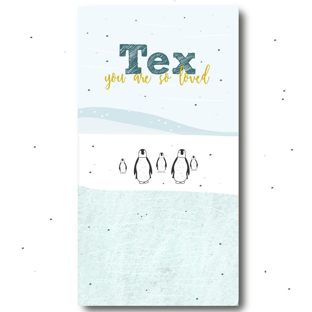 Voorzijde-Pinguïn-label-kaartje