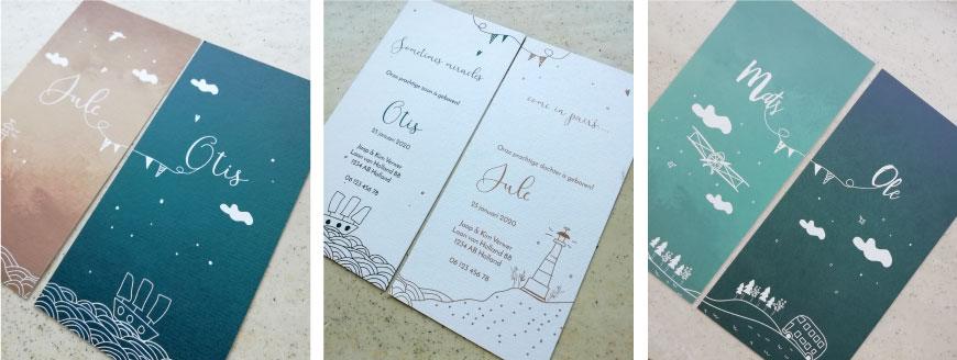 geboortekaartjes-tweeling-label-kaartjes-uniek-ontwerp-brengover-kaartjes