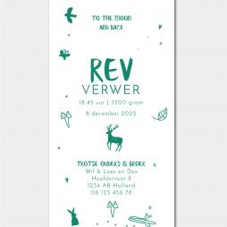 Rev-geboortekaartje-bosgroen-jongen-of-meisje-bos-bosdieren-woods-Brengover-Kaartjes
