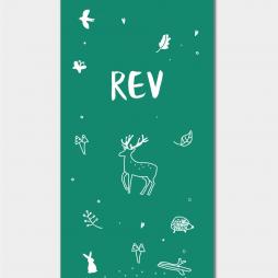 Rev-geboortekaartje-jongen-of-meisje-bos-bosdieren-woods-Brengover-Kaartjes
