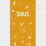 SUUS-label-geboortekaartje-voorzijde-bos-Brengover-Kaartjes